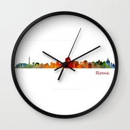 Rome city skyline HQ v01 Wall Clock