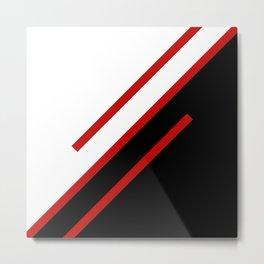 Red diagonal stripes Metal Print