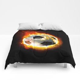Soccer Fire Ball Comforters