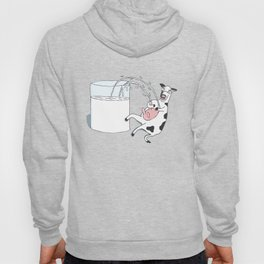 Crazy Cow Spraying Milk! Hoody