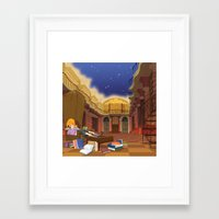 hermione Framed Art Prints featuring Hermione  by Lesley Vamos