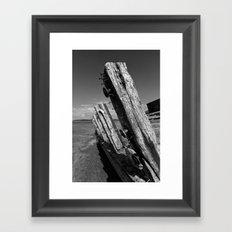 Abandoned ship Framed Art Print