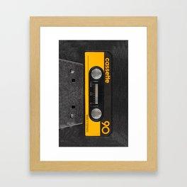 Yellow Cassette Framed Art Print