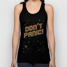 Don't Panic! Pixel Art Unisex Tank Top