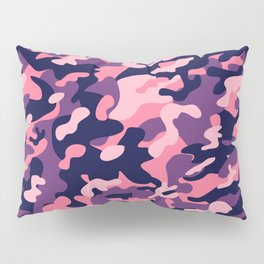 Pink Purple Camouflage Pillow Sham