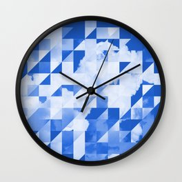 SKY triangles Wall Clock