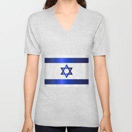 Israel Star Of David Flag Unisex V-Neck