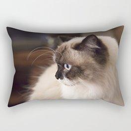 Chocolate Ragdoll Cat Rectangular Pillow