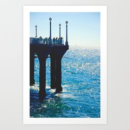 End of Manhattan Beach Pier Art Print