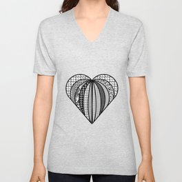 heart made from pieces . Artlove Unisex V-Neck