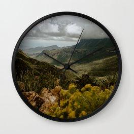 Vibrant Mountain Range Landscape, Big Bend Wall Clock