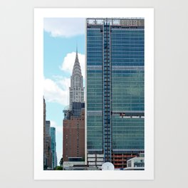 New York UN Chrysler Art Print