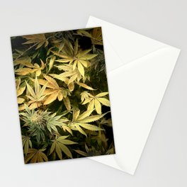 Yellow Cannabis Family Stationery Cards