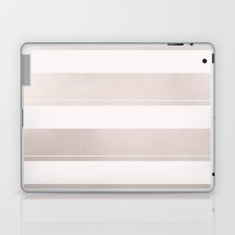 Rose Gold and Wide Pink Stripes Mix Pattern Laptop & iPad Skin