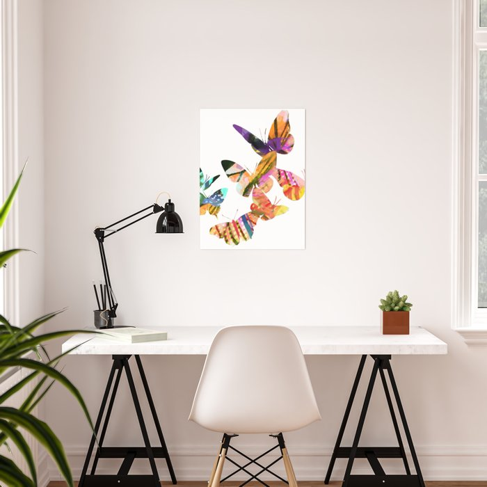 Butterfly Swarm Poster