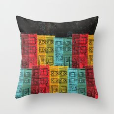 Rows of Houses  Throw Pillow