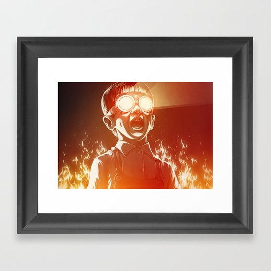 FIREEE! Framed Art Print
