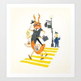The Centipede Human Art Print