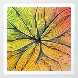 Doodled Aura-Leah Digitized Macro Art Print