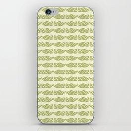 Dutch clogs with tulip pattern green iPhone Skin