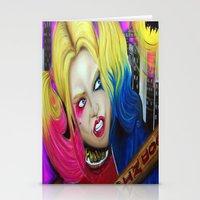 harley Stationery Cards featuring Harley by Kim Shady