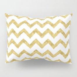 Chevron Gold And White Pillow Sham