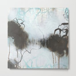 Into the Storm - Square Abstract Expressionism Metal Print
