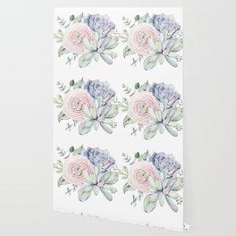 Succulent Blooms Wallpaper