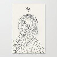 rapunzel Canvas Prints featuring Rapunzel by Dao Linh