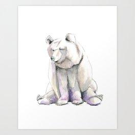 Blueberry Bear Illustration Art Print