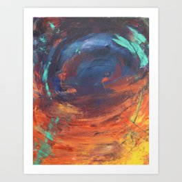 Swirly Abyss Art Print