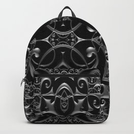 Victorian Silver Metallic Steampunk Gothic Sacred Geometry Gates Backpack