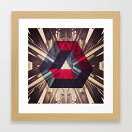 Isometric symmetry Framed Art Print