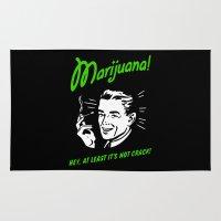 marijuana Area & Throw Rugs featuring Marijuana is Good  by Spyck
