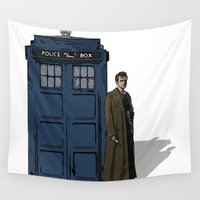 doctor who Wall Tapestries featuring Doctor Who by Evelyn Gonzalez