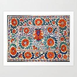 Shakhrisyabz Suzani Uzbekistan Antique Embroidery Print Kunstdrucke