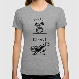 Inhale Exhale Schnauzer T-shirt