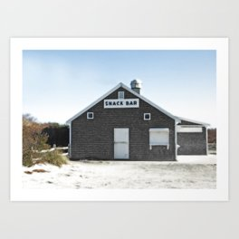 Cape Cod Beach Snack Bar Off Season Art Print