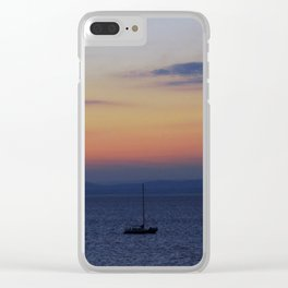 Sunset on the Water Clear iPhone Case