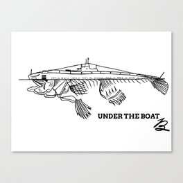 Under the boat Canvas Print