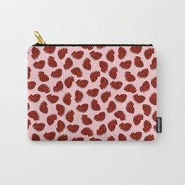 Anatomical Hearts on Pink Carry-All Pouch