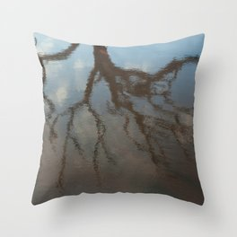 Dead Tree Reflection Throw Pillow