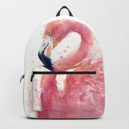 Pink Flamingo Rain | Facing Right Backpack