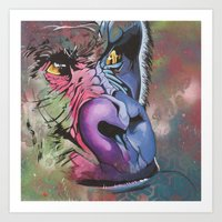 ape Art Prints featuring ape by HayleyStewart