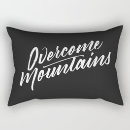 Overcome Mountains Rectangular Pillow