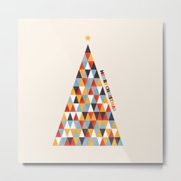 Modern Christmas Tree Metal Print