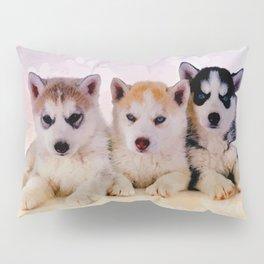 Siberian Husky Puppies Pillow Sham