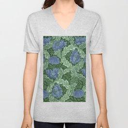 """William Morris """"Wreath"""" Unisex V-Neck"""