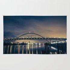 Fremont Bridge at Night Rug