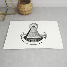 the Eye of Providence from the Great seal of America  All seeing Eye us dollar money cash Pyramid Rug